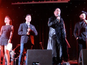 Hosts of the show: David Gest along with Luminaries from Coronation Street: Actress/Singer Kym Marsh and Ryan Thomas with brother and fellow actor Adam Thomas of the show Emmerdale's. For my US folks: Coronation Street is the most popular, longest running television series in the UK.