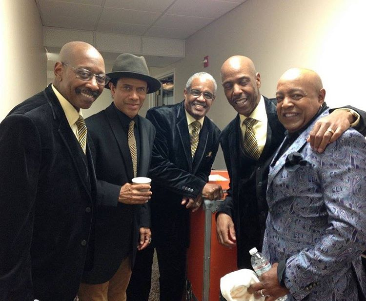Backstage in Memphis with Peabo Bryson and Russell Thompkins Jrhellip